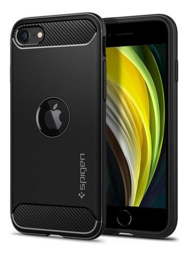 Capa Original Spigen iPhone SE 2020 Rugged Armor Black Slim