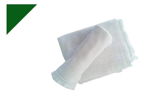Imagem 1 de 3 de 100 Peças Pano De Chão Limpeza Saco Duplo Alvejado 32x55cm