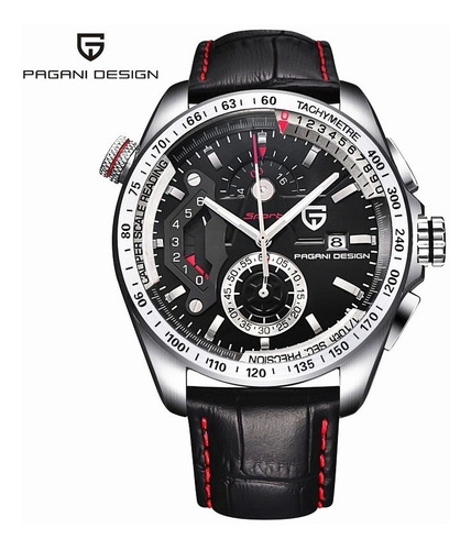 Relógio Masculino Couro Pagani Design Original
