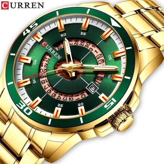 Relógio Masculino Barato Curren Aço Inox Luxo Original