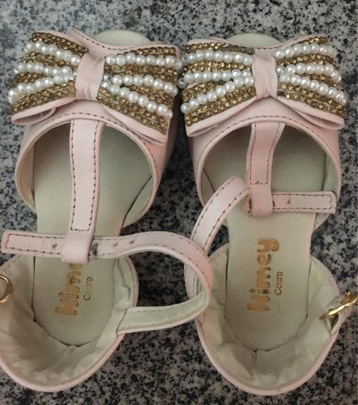 Sapato Kimey Couro Rosa