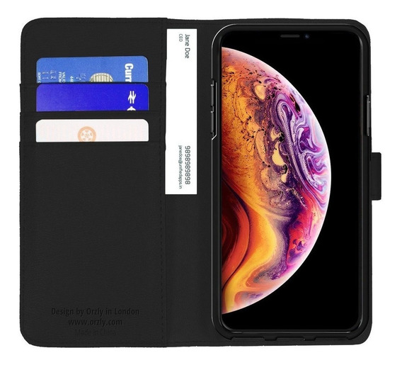 Funda iPhone Xs Max Cartera Billetera Protector Piel Orzly