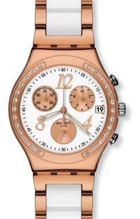Reloj Swatch Mujer Dreawhite Rose Ycg406g Envío Gratis Garantia Oficial