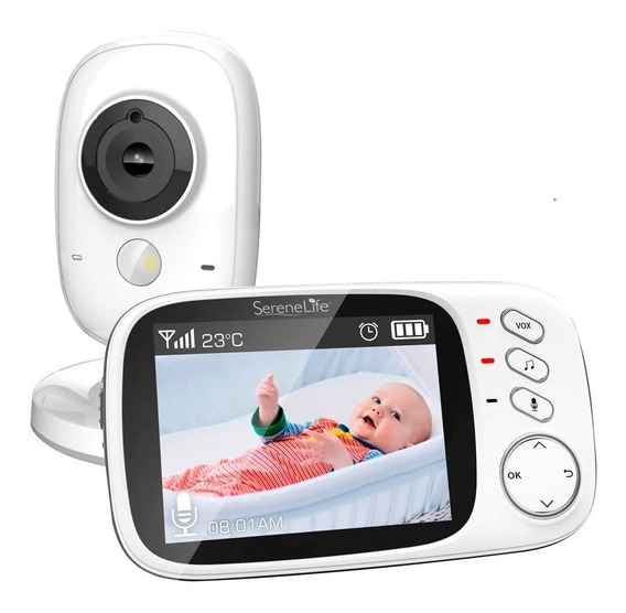 Camara Video Monitor Para Cuidar Bebes Visión Nocturna Lcd
