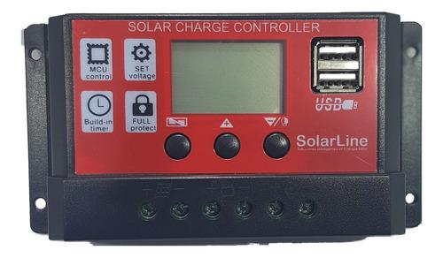 Regulador De Carga P/ Panel Solar Fotovoltaicos 12v 10amp