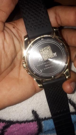 Relógio Magnum, Pulseira De Borracha Todo Original