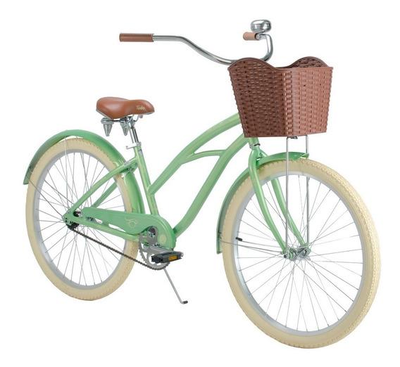 Bicicleta Vintage Retro Mujer Turbo Malibu R-26 Menta 15450