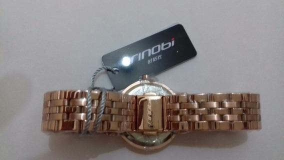 Relógio De Luxo Feminino Moda 2018 Pulseira Em Metal Dourado