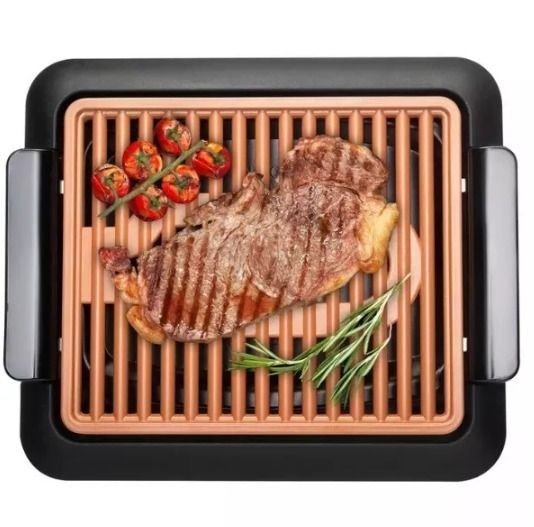 Mini Asador Parrilla Portátil Electrica Para Carne Asada