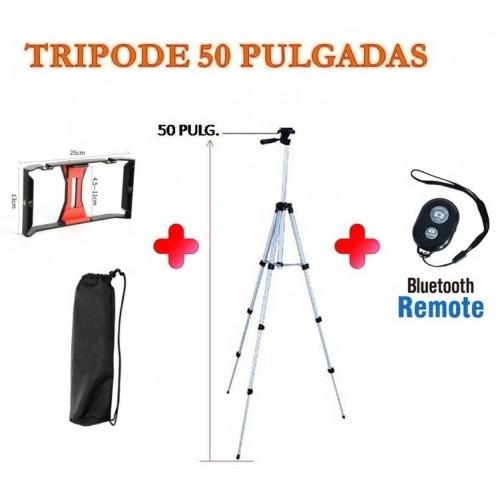 Trípode De 50 PuLG. + Base Fill + Boton Bluetooth + Bulto