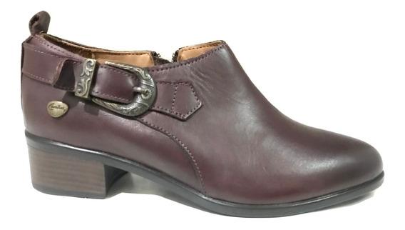 Zapato Cavatini Flor Uva - Zapato Con Hebilla - 40-3106