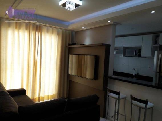 Apartamento Com 2 Dormitórios À Venda, 50 M² Por R$ 308.000,00 - Utinga - Santo André/sp - Ap0778