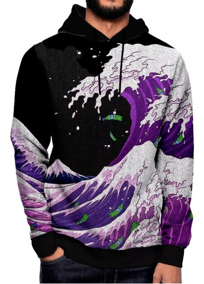 Moletom Lean Roupa Hiphop Purple Wave Roupa Swag 1