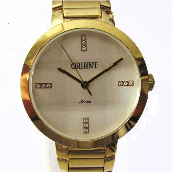 Relógio Orient Feminino Folhado A Ouro Fgss0077 S1kx