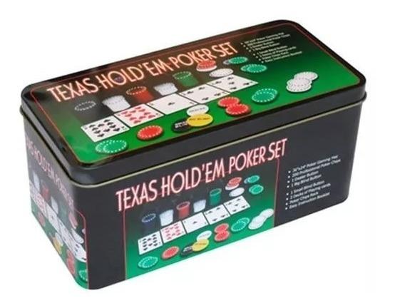 Kit Jogo Baralho Poker Texas Hold