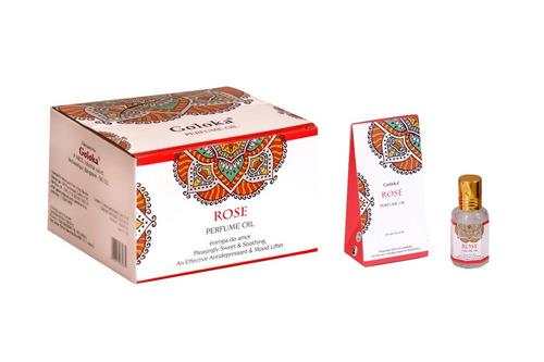 Óleo Perfumado Indiano Goloka Rosa 6un.10ml- Energia Do Amor