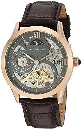 Reloj Stuhrling Original De Cuero Para Hombre