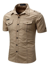 Camisa De Manga Corta Estilo Militar