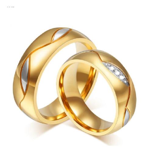 Imagen 1 de 1 de Anillos De Compromiso Matrimonio Oro Blanco 18k Plata Amor