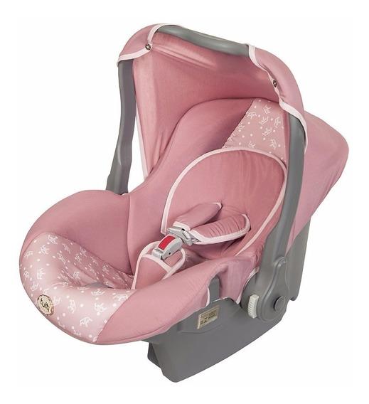 Bebê Conforto Nino Rosa Coroa Capota Retrátil E Removível