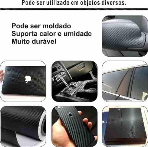 Adesivo Fibra Carbono 3d Para Celular Notebook Carro 90x50cm