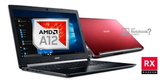 Notebook Acer A12 8gb 1tb Rx 540 + Ssd 240 Gb M.2