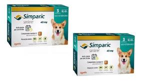 Combo 2 Simparic 40 Mg 10 A 20 Kg 6 Comprimidos