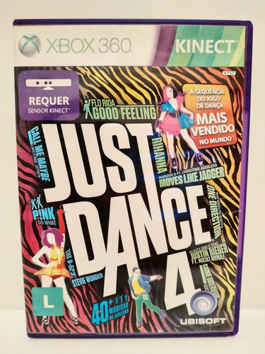 Imagem 1 de 3 de Just Dance 4 Xbox 360 Mídia Física Original P/ Entrega