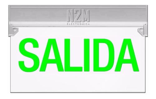 Cartel Led Salida 35x20 Bateria Recargable 220v Señalizador Luminoso