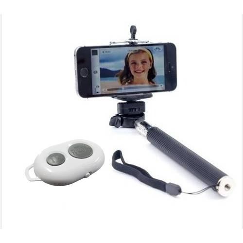 Kit Selfie Celular Bluetooth Bastão De Mão Telescópico