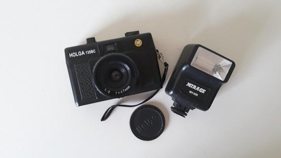 Câmera Analogia Holga 135bc + Flash