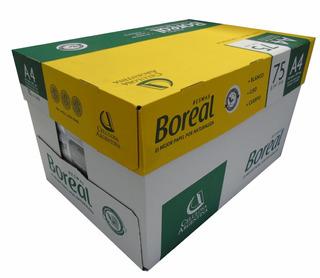 Resmas A4 Boreal 75gr En Caja X 10 Papel Extra Blanco