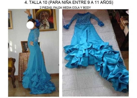 Espectaculares Vestido Traje Flamenco Y Hip-hop Para Niña
