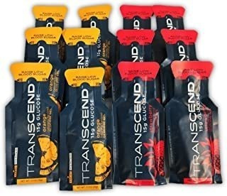 Transcend 15g Glucose Gel - Orange & Strawberry Assortment (