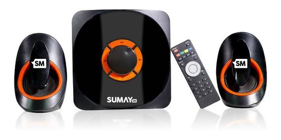Caixa De Som Multimidia 2.1 Bluetooth Sumay