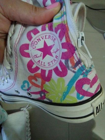 Zapatos Converse - Botas Largas Converse Originales 25 Vrds