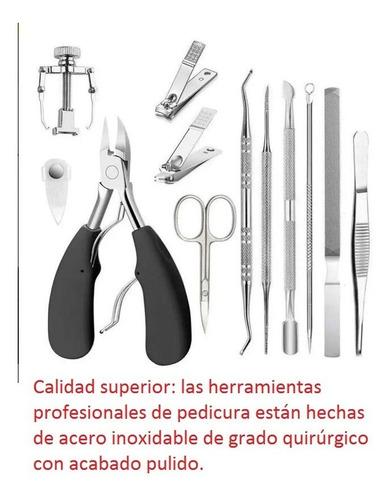 Kit De Podología Quiropedia Pedicure 12 Piezas