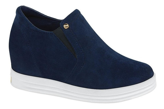 Zapato Bota Para Vestir Casual Color Azul Para Dama -a67708