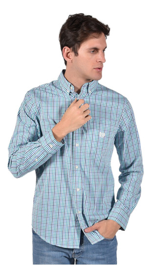 Camisa Stretch Fit Chaps Verde 750735464-35ph Hombre