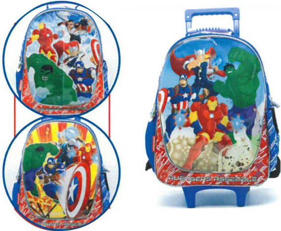 Mochila C/carro 16 Pulg. Cresko Art. Sp623 Avengers
