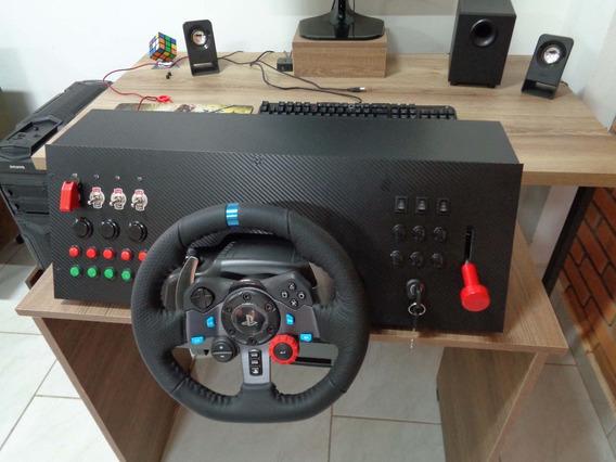 Painel Button Box 32 Funções Euro Truck G27 G29 G920 Mod28