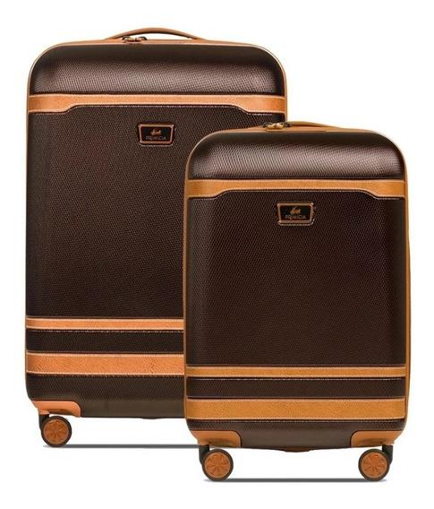 Set X2 Valijas Primicia Windsor Grande+cabina Oficial Lubeca