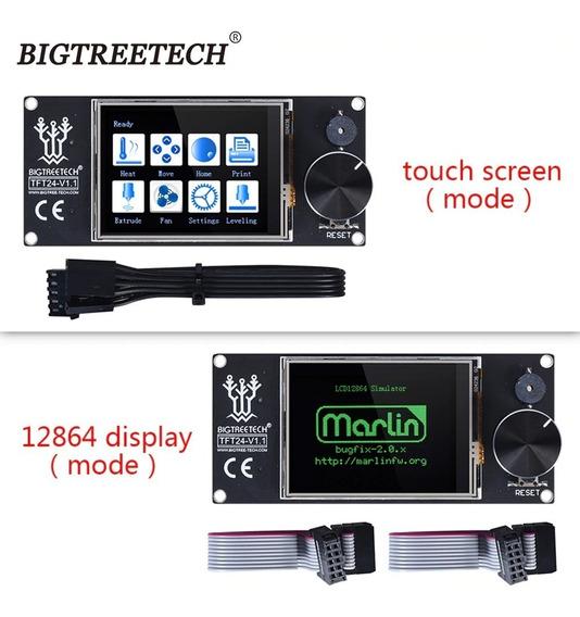 Display Impressora 3d Tft24 V1.1 Touch Duplo (gráfico E 12864 Bo Mesmo Produto) Mks Skr Lancamento - No Brasil