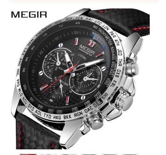 Relógio / Megir / Luxo / Original / Mod. 1010
