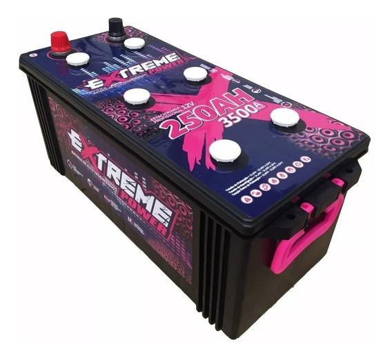 Bateria 250ah Extreme Power Bass Som Max Estacionária