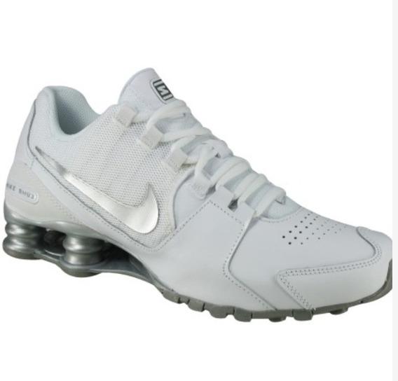 Tênis Nike Shox Avenue Leather Branco Prata Original Tam.44