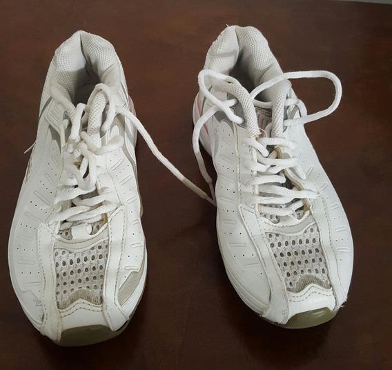 Zapatillas Reebok Blanco Y Gris Talle 35 Producto Original