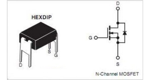 Kit X2 Transistor Mosfet Canal N Irfd123 1.1a 60v Rdson=0.4ohm Dip-4 Alternativo De Irfd110