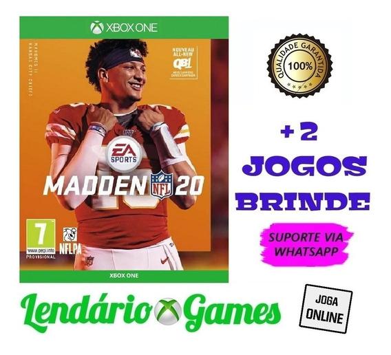 Madden Nfl 20 X One M. Digital + 2 Brindes