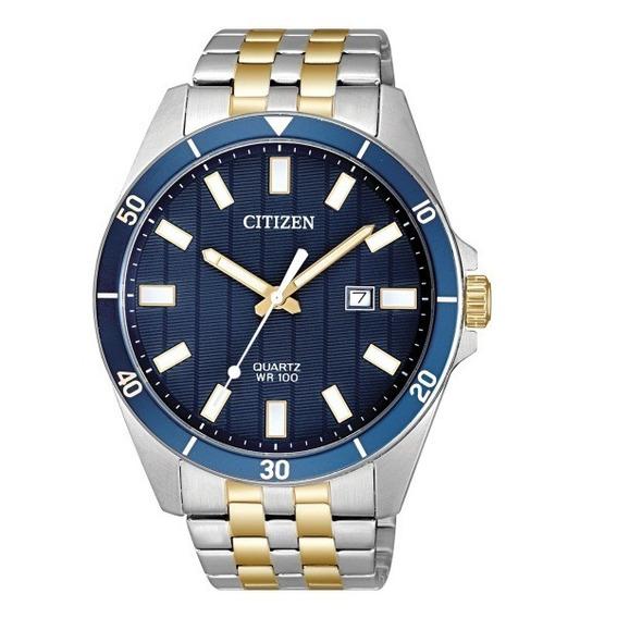 Relógio Citizen Masculino Tz31114a Misto Azul Analogico Off